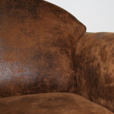 Fauteuil microfibre aspect cuir Malcolm