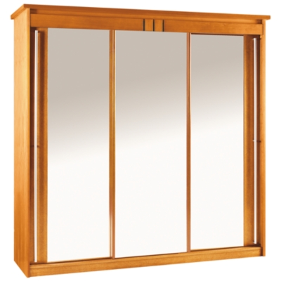 armoire 3 portes coulissantes mareva merisier. Black Bedroom Furniture Sets. Home Design Ideas