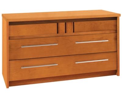 Commode 3 tiroirs Mareva merisier