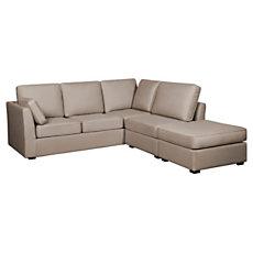 Canapé d'angle tissu coton lin M...