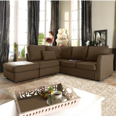 Canapé d'angle tissu déhoussable  Marbella