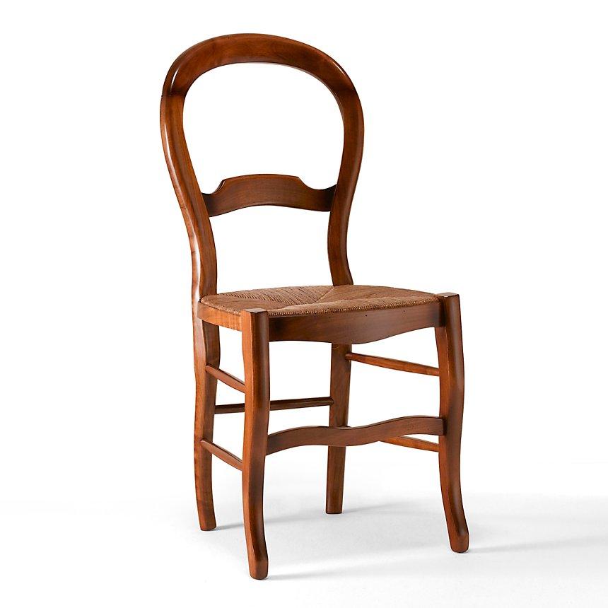 MARGOT lot 2 chaises dos violon, merisier