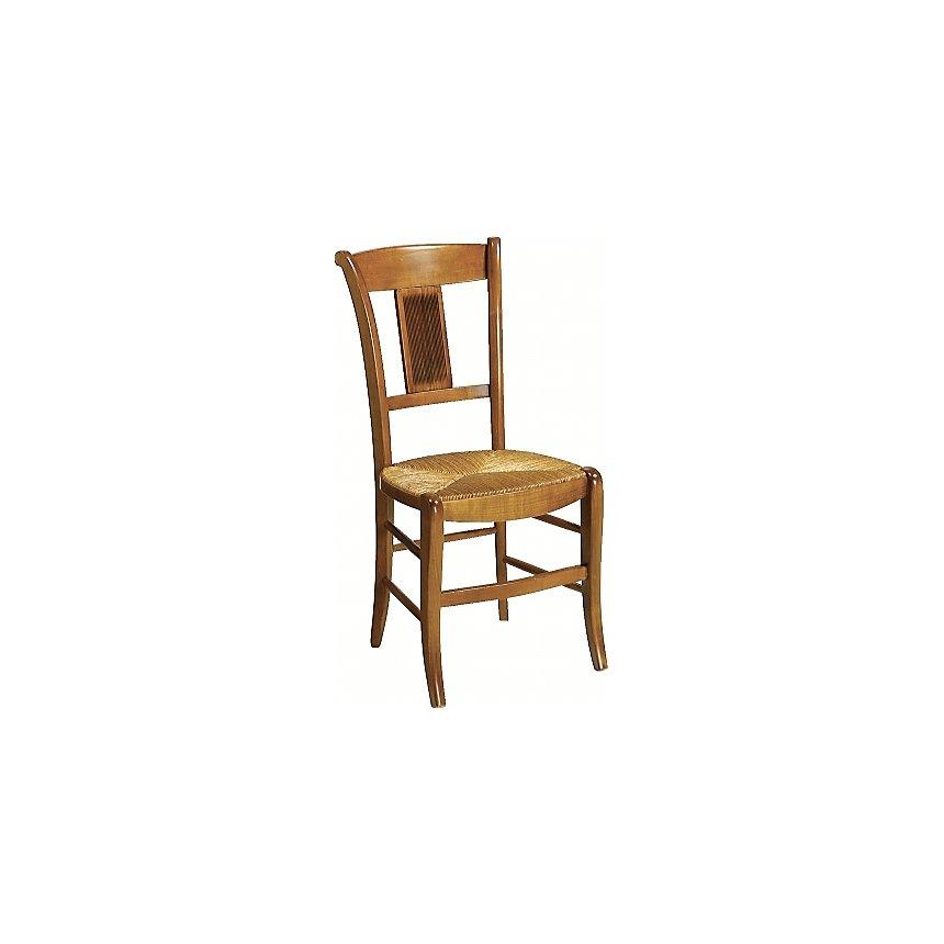 MARGOT lot 2 chaises dos palmettes, merisier