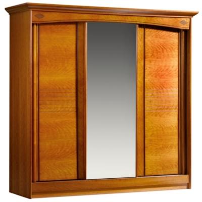 Armoire 3 portes coulissantes Mathilda  merisier