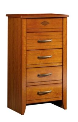 Chiffonnier 5 tiroirs Mathilda merisier