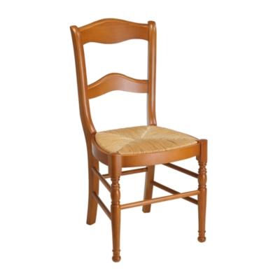 Lot 2 chaises Mélanie dos barettes,  chêne