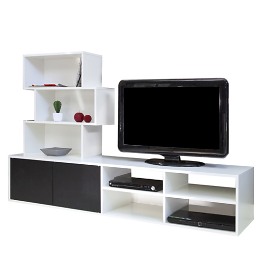 meuble tv biblioth que maely. Black Bedroom Furniture Sets. Home Design Ideas