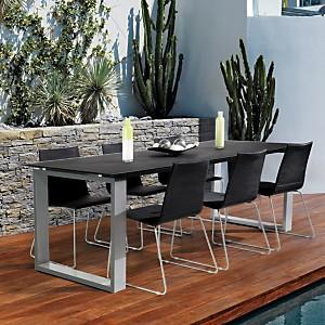Ensemble repas Vérone, table + 8 chaises