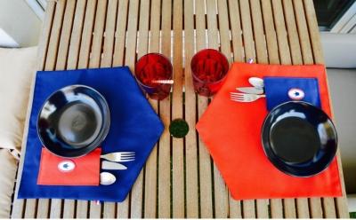 Set de table p'tit coq Bleu