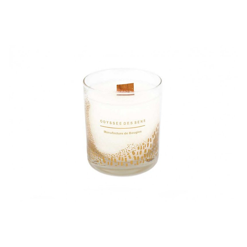 Bougie Parfumée Mèche bois 300G / Caramel beurre salé