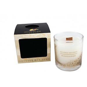 Bougie Parfumée Mèche bois 300G / Carame