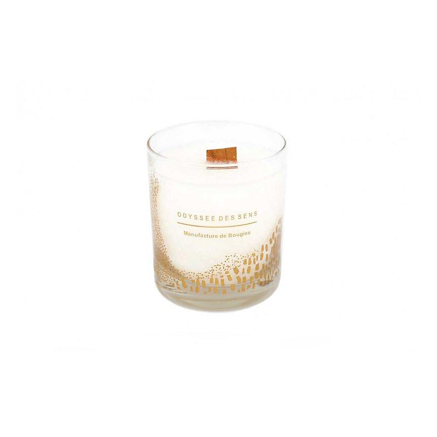 Bougie Parfumée Mèche bois 300G / Fleur de coton