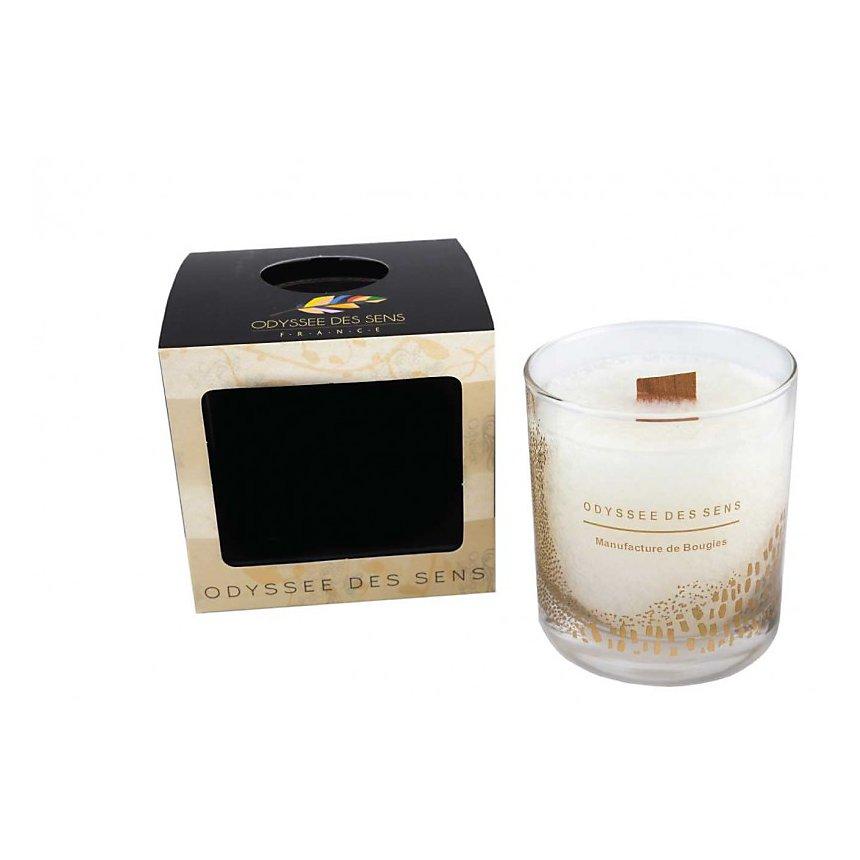 Bougie Parfumée Mèche bois 300G / Feuille de bambou