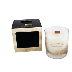 Bougie Parfumée Mèche bois 300G / Feuill