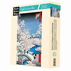 Puzzle Le Pont A Meguro, De Hiroshige