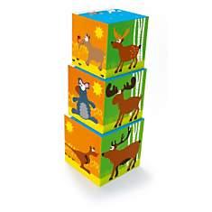 Cubes pyramide en carton - animaux du mo...