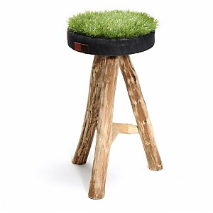 Green Grass  tabouret avec une assise en