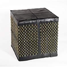 Pouf carré Stick en chambre à air recycl