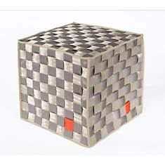 Pouf Square carré en ceintures de sécuri...
