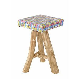 Coco Tabouret en bois et assise en centi