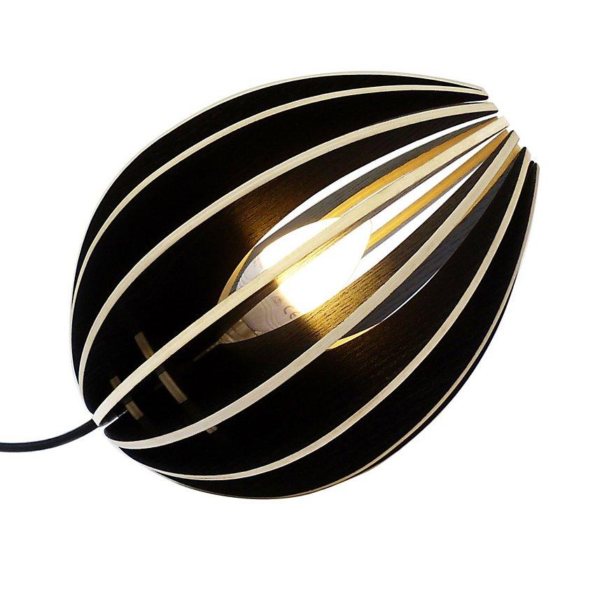 Fève - lampe à poser en bois