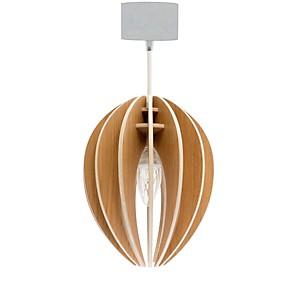 Fève - lampe à suspendre en bois avec co