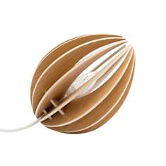 Fève - lampe à poser en chêne avec cordo
