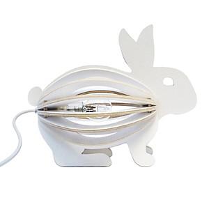 Zooo - lampe à poser lapin en bois avec