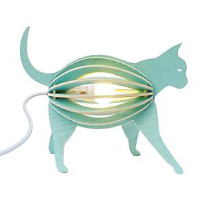 Zooo - lampe à poser chat en bois avec c