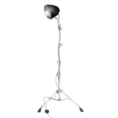Lampe sur pied  -  Liseuse 'Rock Light'  -  chrome et noir