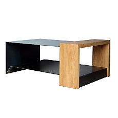 Table basse en métal et bois Kon...