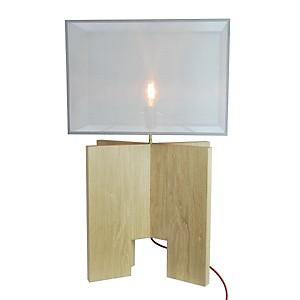 Lampe éco-design X-TOOL - chêne massif