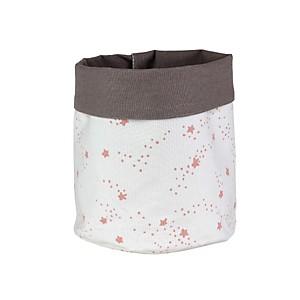 Panier de rangement en coton Etoiles 25x20 cm