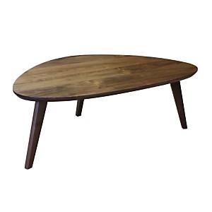 Table basse vintage forme libre tripode en Noyer naturel massif