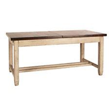 Table rectangulaire à allonges