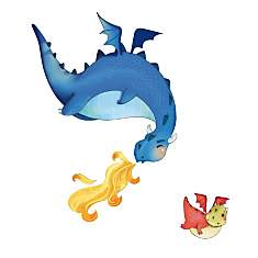 Sticker enfant Les dragons