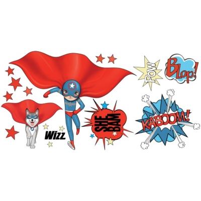 Stickers Super Héros Blue and Dog