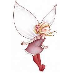 Sticker enfant - Fée volante et papillon