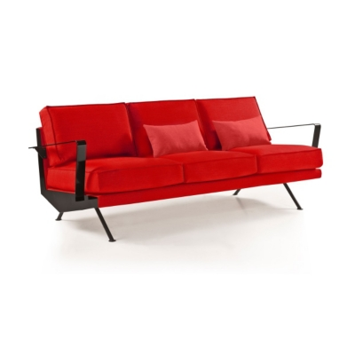 Canapé 3 places Metal tissu Moderniste Rétro années 50