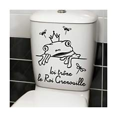 Sticker Roi Grenouille pour WC