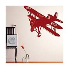 Sticker Avion Biplan