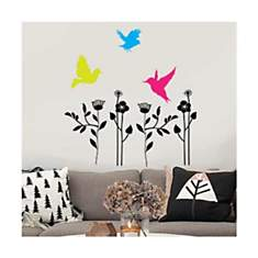 Sticker fleurs et oiseaux
