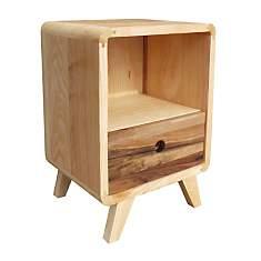 Table de chevet en bois de frêne et noye