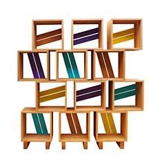 Meuble bibliothèque modulable 12 casiers...