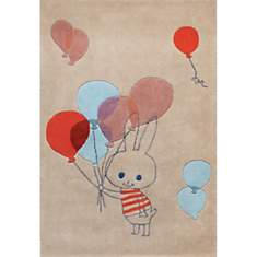 Tapis enfant beige Balloon rabbit par Sh