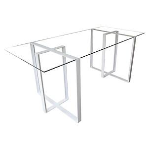 Bureau design acier et verre Séverin