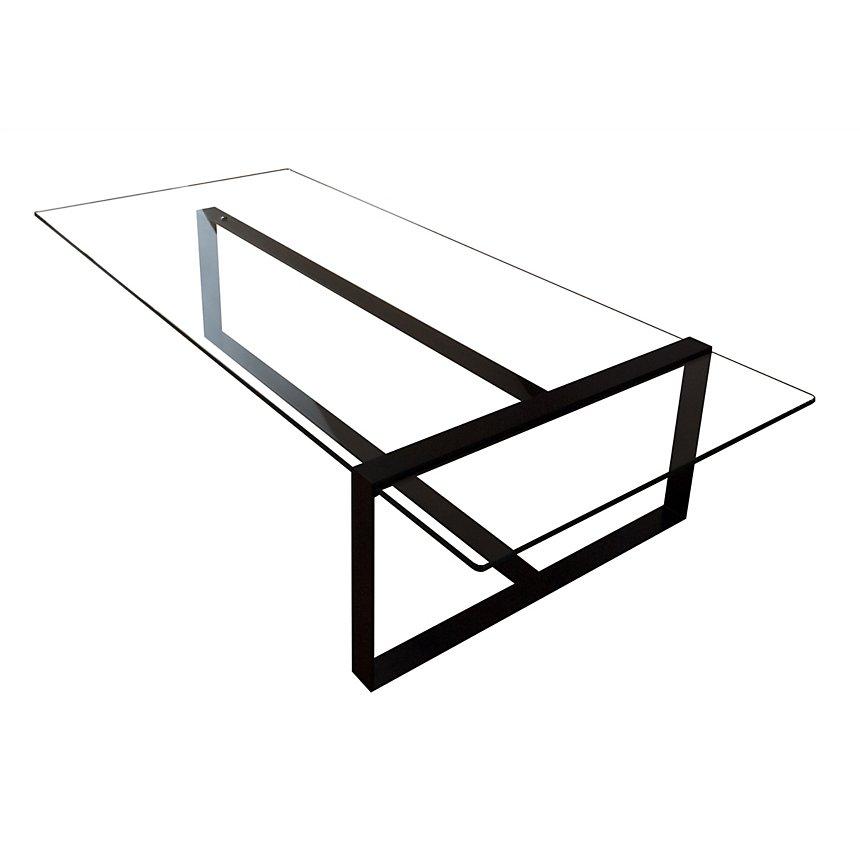 Table Basse Design Acier Et Verre Séverin