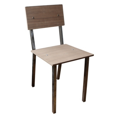 Chaise en acier gris chiné Vaneau