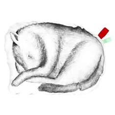 Coussin en coton blanc forme Marcel le c