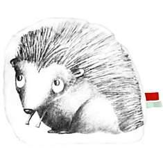 Coussin en coton blanc forme Léon le hér